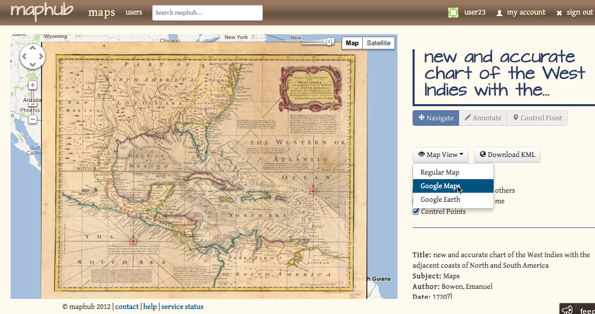 Maphub Historic Map Annotation Portal